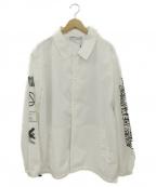 LEGENDA(レジェンダ)の古着「GLITCH ARTコーチジャケット」 ホワイト