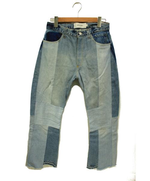 JOHN MASON SMITH(ジョンメイソンスミス)JOHN MASON SMITH (ジョンメイソンスミス) 再構築リメイクデニムパンツ ブルー サイズ:30の古着・服飾アイテム