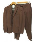 UNITED TOKYO(ユナイテッドトウキョウ)の古着「ハイカウントウールジャケットセットアップ」|ボルドー