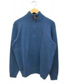 POLO RALPH LAUREN(ポロラルフローレン)の古着「ハーフジップニット」|ブルー