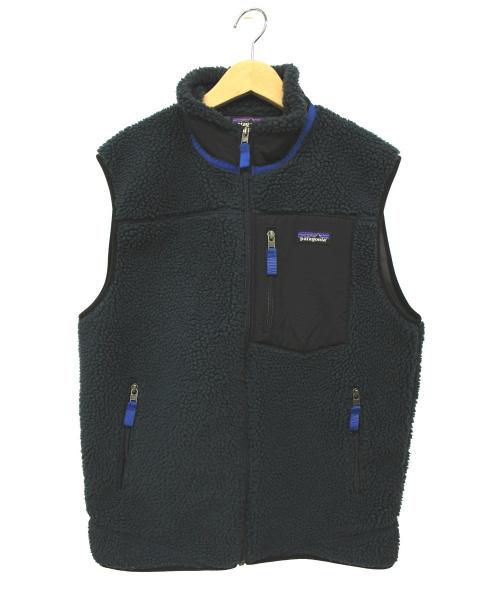 Patagonia(パタゴニア)Patagonia (パタゴニア) クラシックレトロ フリースベスト ネイビー サイズ:Mの古着・服飾アイテム