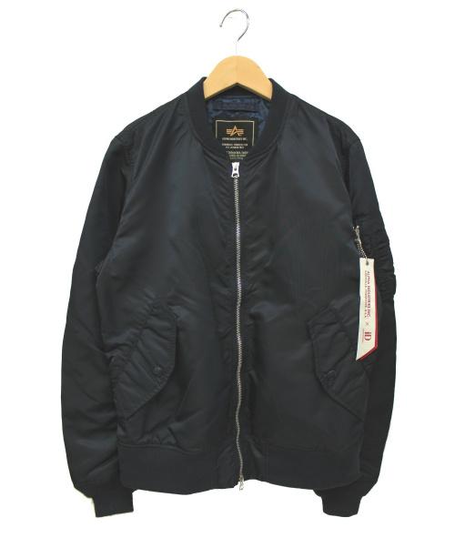 ALPHA(アルファ)ALPHA (アルファ) MA-1ジャケット ネイビー サイズ:Mの古着・服飾アイテム