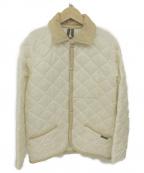 LAVENHAM(ラベンハム)の古着「キルティングコート」|アイボリー×ベージュ