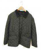 Barbour()の古着「キルティングジャケット」 ブラック