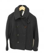 ORCIVAL(オーシバル)の古着「メルトンダブルフードPコート」|ネイビー