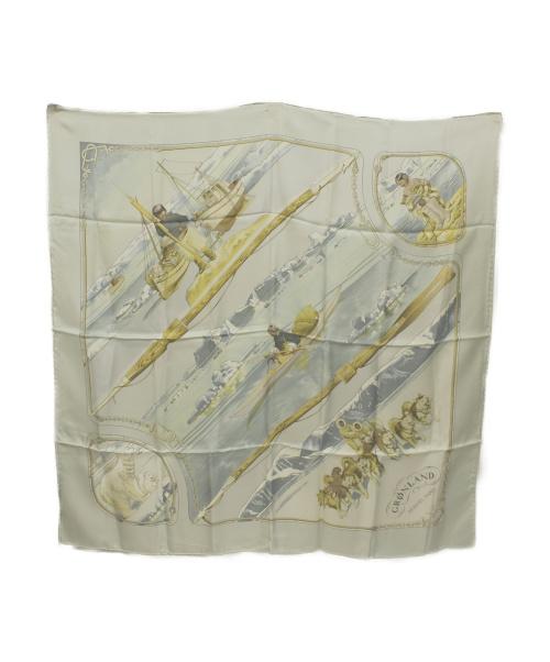 HERMES(エルメス)HERMES (エルメス) スカーフ ライトブルー GRONLAND カレ90の古着・服飾アイテム