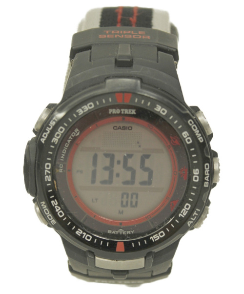 CASIO(カシオ)CASIO (カシオ) 腕時計 PRO TREK PRW-3000G ソーラー充電の古着・服飾アイテム