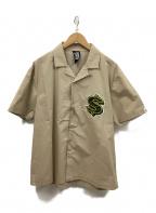 BILLIONAIRE BOYS CLUB(ビリオネアボーイズクラブ)の古着「オープンカラーシャツ」 ベージュ