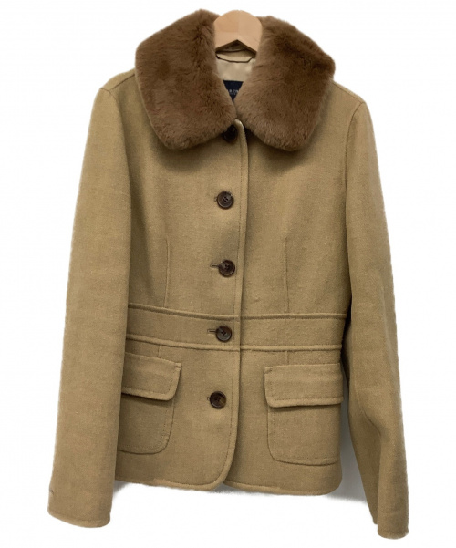 BURBERRY LONDON(バーバリーロンドン)BURBERRY LONDON (バーバリーロンドン) ウールジャケット ベージュ サイズ:40 カシミヤ混の古着・服飾アイテム