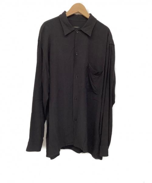 COMOLI(コモリ)COMOLI (コモリ) レーヨンオープンカラーシャツ ブラック サイズ:記載なしの古着・服飾アイテム