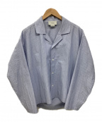 YOKE(ヨーク)の古着「オープンカラーシャツ」 ブルー