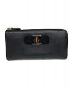 Salvatore Ferragamo(サルヴァトーレ フェラガモ)の古着「L字ファスナー財布」|ブラック