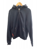 PRADA SPORTS(プラダスポーツ)の古着「フード切替ジップパーカー」|ブラック