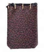 印傳屋(インデンヤ)の古着「巾着」|ブラック×レッド