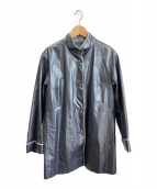 ()の古着「ポリウレタンコート」 グレー