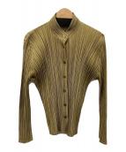 ()の古着「プリーツシャツ」 ベージュ