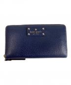 Kate Spade(ケイトスペード)の古着「ラウンドファスナー財布」|ネイビー