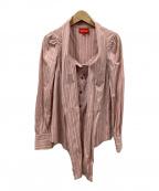 Vivienne Westwood RED LABEL(ヴィヴィアンウェストウッド レッドレーベル)の古着「ブラウス」|ピンク