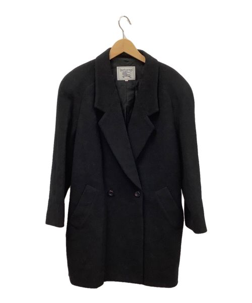 Burberry's(バーバリーズ)Burberry's (バーバリーズ) チェスターコート ブラック サイズ:Lの古着・服飾アイテム