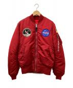 ALPHA(アルファ)の古着「MA-1フライトジャケット」|レッド