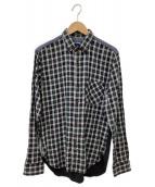 COMME des GARCONS JYUNYA WATANABE(コムデギャルソン ジュンヤワタナベ)の古着「綿先染ツイルチェックシャツ」|グリーン×ネイビー