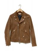 BEAUTY&YOUTH(ビューティーアンドユース)の古着「スウェードライダースジャケット」|ブラウン