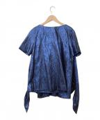 KEITA MARUYAMA(ケイタマルヤマ)の古着「半袖ブラウス」 ブルー