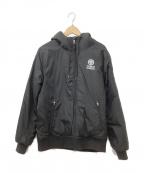 Franklin & Marshall(フランクリンマーシャル)の古着「フーデッド中綿ジャケット」|ブラック