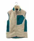 Columbia(コロンビア)の古着「ボアベストジャケット」|ベージュ×ターイコイズ