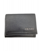 PRADA(プラダ)の古着「3つ折りコンパクトウォレット」 ブラック