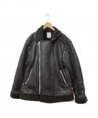 LEGENDA(レジェンダ)の古着「フェイクムートンジャケット」 ブラック