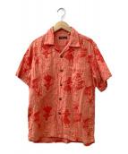 ()の古着「ガーゼアロハシャツ」 オレンジ