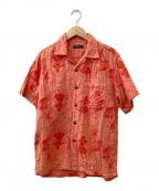 Sun Surf(サンサーフ)の古着「ガーゼアロハシャツ」|オレンジ