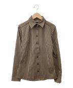 FENDI JEANS(フェンディ ジーンズ)の古着「長袖シャツ」|ブラック×ブラウン