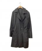 KRIS VAN ASSCHE(クリス ヴァン アッシュ)の古着「トレンチコート」 ブラック