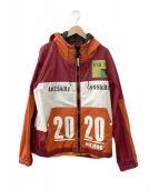 ()の古着「カラーブロックジャケット」 レッド×オレンジ