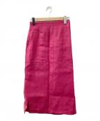 ESTNATION(エストネーション)の古着「リネンフロントポケットタイトスカート」 ピンク
