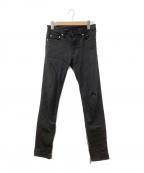 Dior(ディオール)の古着「サイドジップブラックスキニーパンツ」 ブラック