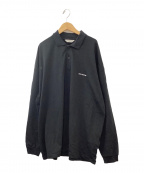COOTIE PRODUCTIONS(クーティープロダクツ)の古着「スーピマコットン長袖ポロ」|ブラック