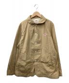 ()の古着「丸襟ブルゾン」 ブラウン