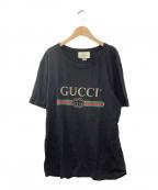 GUCCI(グッチ)の古着「ロゴウォッシュオーバーサイズTシャツ」|ブラック