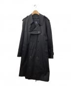 BURBERRY LONDON(バーバリー ロンドン)の古着「ギャバジンコットンロングトレンチコート」 ブラック