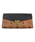 ()の古着「長財布」|ブラウン×ブラック