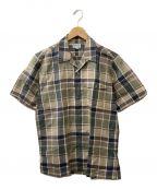 Burberry's()の古着「半袖オープンカラーシャツ」|ベージュ