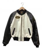 VANSON()の古着「TJVジャケット」|ホワイト×ブラック