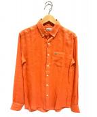 LACOSTE(ラコステ)の古着「リネンボタンダウンシャツ」|オレンジ