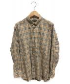 BURBERRY LONDON(バーバリーロンドン)の古着「チェックシャツ」 ベージュ