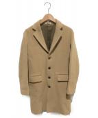 AURALEE(オーラリー)の古着「ビーバーメルトンチェスターコート」|ベージュ