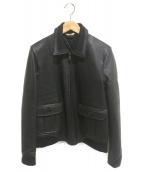 Paul Smith(ポールスミス)の古着「ラムレザーブルゾン」|ブラック