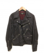 RRL(ダブルアールエル)の古着「コットンブレンドモトジャケット」|ダークブラウン